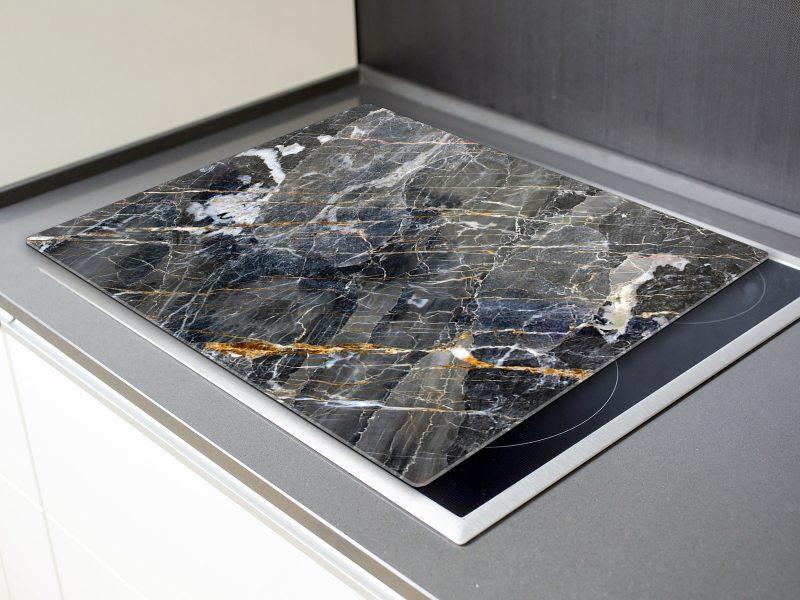 herdabdeckplatten schneidebrett aus glas marmor optik dunkel ha399746896 die leinwandfabrik. Black Bedroom Furniture Sets. Home Design Ideas